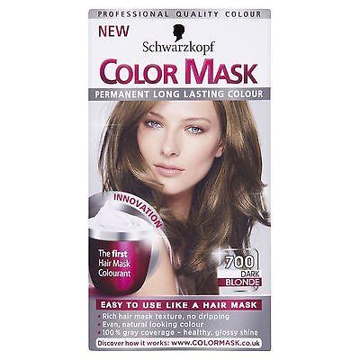 6 X Schwarzkopf COLOR MASK Permanent Colour 700 Dark Blonde