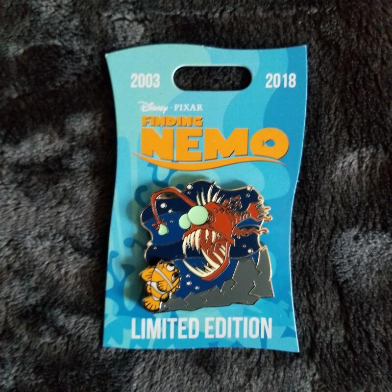 Disney Parks Finding Nemo Marlin & Anglerfish Pin LE 2000 15th Anniversary