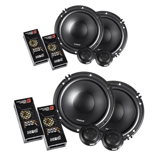 "4x - Cerwin-Vega XED650C 600W 6.5"" 2-Way Component Power Handling Speaker  2pair"