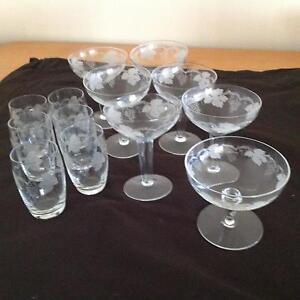 Grape design glassware Como South Perth Area Preview