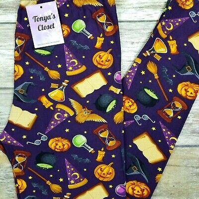 Witch's Potion Leggings Halloween Pumpkins Buttery Soft ONE SIZE OS ](Pumpkins Halloween Witch)