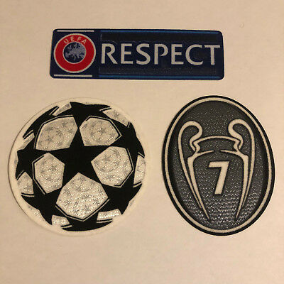 Champions League Winners Trophy Football Shirt Patch Set Badges 4 BOH Ajax Dutch