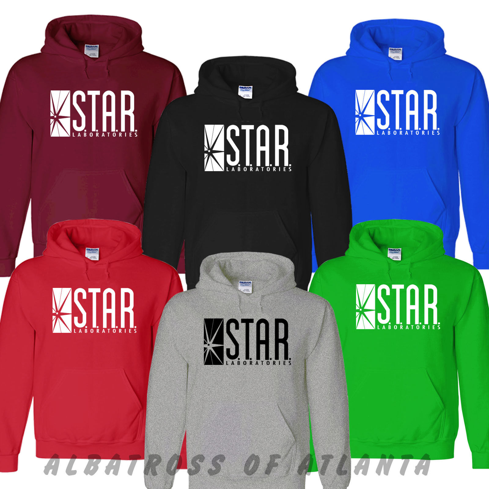 STAR LABROTORIES HOODY THE FLASH PULLOVER UNISEX S.T.A.R. LAB UNISEX HOODY