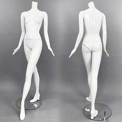 Patina V Mannequin White Gloss Full Size Female Headless Modern Image Im21a