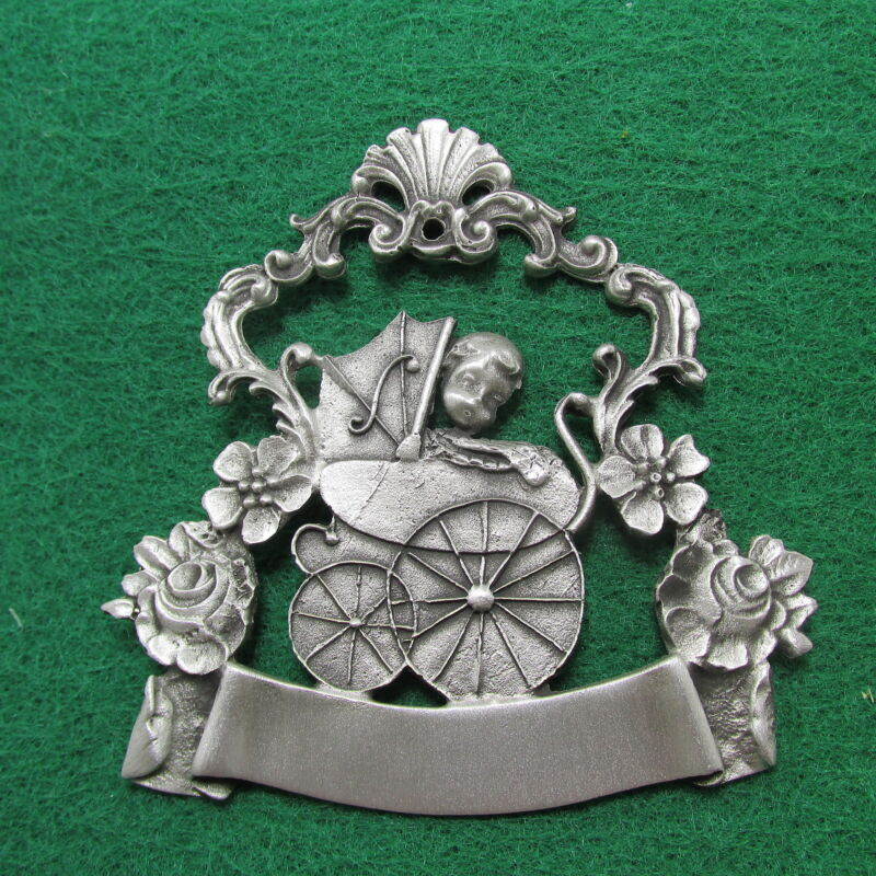 Baby Ornament - Pewter