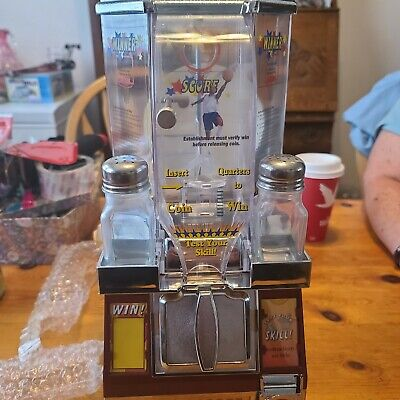 Tabletop Basketball Candy Gumball Coin Shooter Vending Machine Play And Score