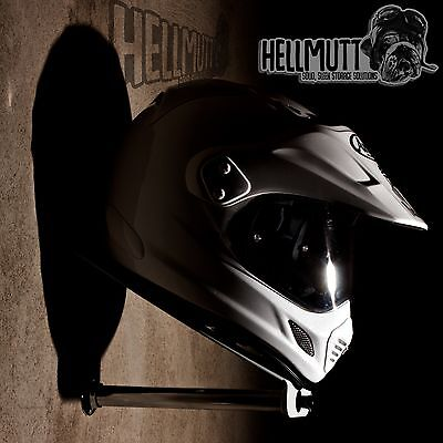 HellMutt - Premium helmet and leather storage display (bracket/stand/shelf/tidy)