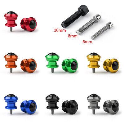 Universal Motorcycle CNC Swingarm Swing Arm Spools Sliders Stand 6/8/10 mm T1 10mm Swing Arm Spools
