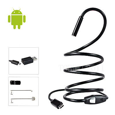 Flexible Android USB Endoscope Tube Borescope Inspection Camera 5.5mm 1M