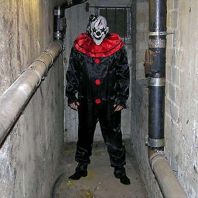 [ Maske + Anzug ] Horror Killer Böser Monster Clown Karneval Kostüm - Schwarze Anzug Kostüm