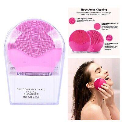 Cepillo Limpiador De Cara Limpieza Facial Silicona Impermeable Cuidado De Piel