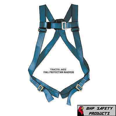 Tractel A432 Blue Phoenix Fall Protection Safety Harness W Single Back D Ring
