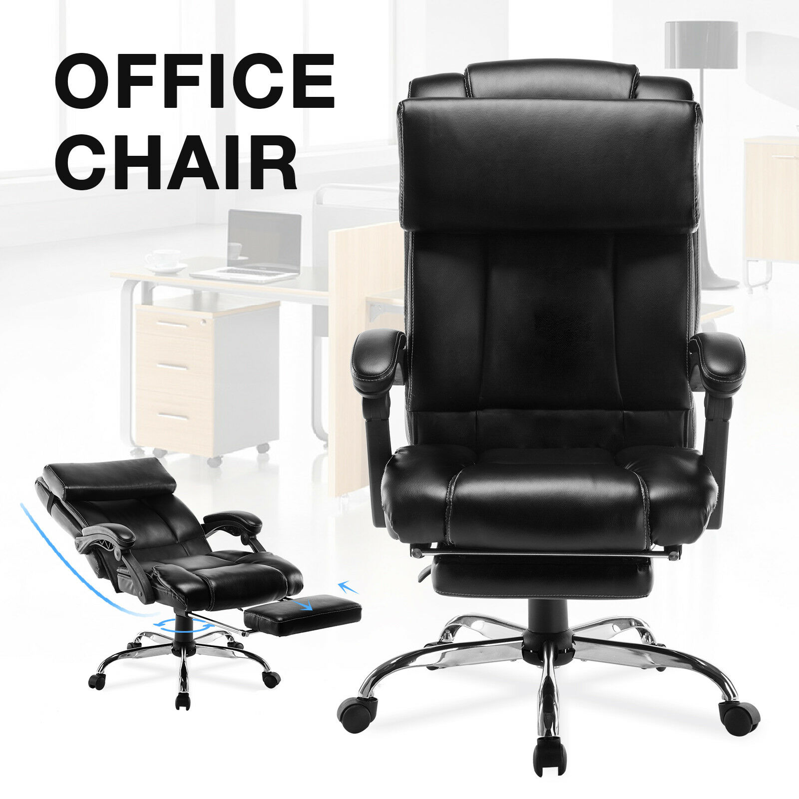 Executive Reclining Office Chair High Back Ergonomic ...