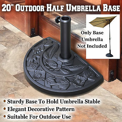 20u0027u0027 Half Finish Gather Resin Umbrella Base Stand Holder Patio For Half  Umbrella Outdoor