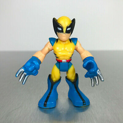 Playskool Marvel Super Hero Adventures WOLVERINE yellow & blue X-Men