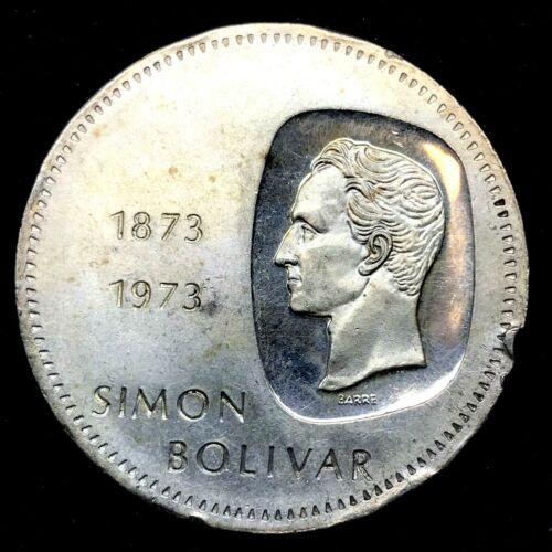 1973 - VENEZUELA 10 BOLIVARES (30 GRAM) .900 Silver Coin  Y#45