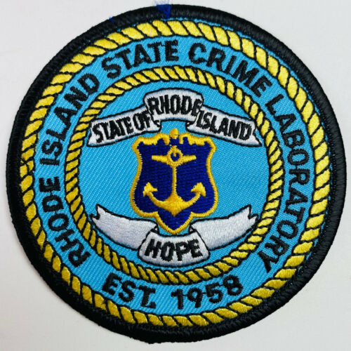 Rhode Island State Police Crime Lab Patch (A2)