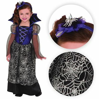 Miss Wicked Web Spider Vampire Princess Girls Toddler Kids Fancy Dress Costume - Toddler Girl Vampire Costume