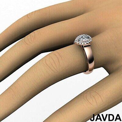 Halo Filigree Shank Pear Shape Diamond Engagement Ring GIA E Clarity VS1 0.92Ct  11