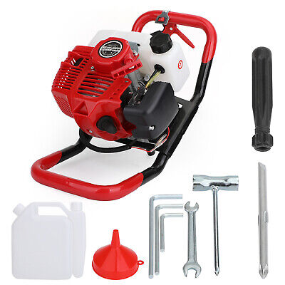 52cc 2-stroke Gasoline Gas One Man Post Hole Digger Earth Auger Machine 2hpepa