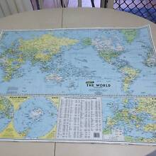 World, Aus and Massage/physio map $3 each Merrimac Gold Coast City Preview