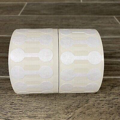 2000 Pcs White Price Tags Stickers Jewelry Round Barbell Labels Tags 1-34