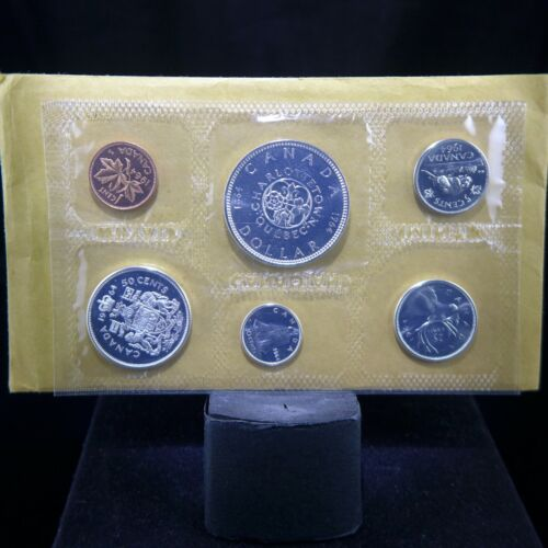 1964 CANADA SILVER Proof Like (6) Coin Set in original envelope with COA