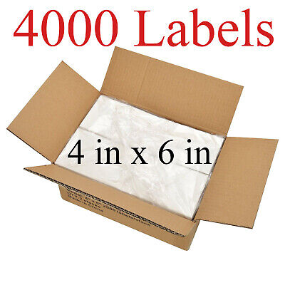 4000 - 4x6 Fanfold Direct Thermal Shipping Labels For Zebra Rollo Printers