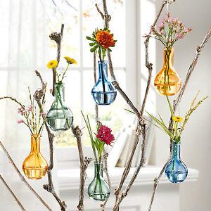 Vasenset Herbststimmung, 6-tlg. , 6 kleine Vasen zum zum Hängen oder Hinstellen