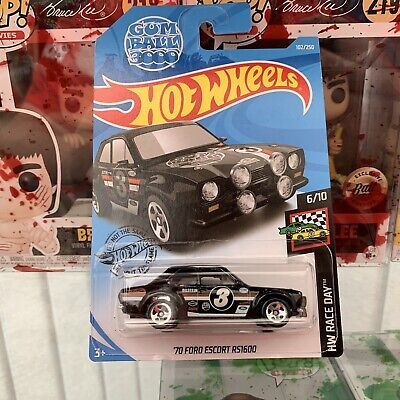 Hot Wheels Gumball Rally 3000 Black '70 Ford Escort RS1600 - US Long Card 2019