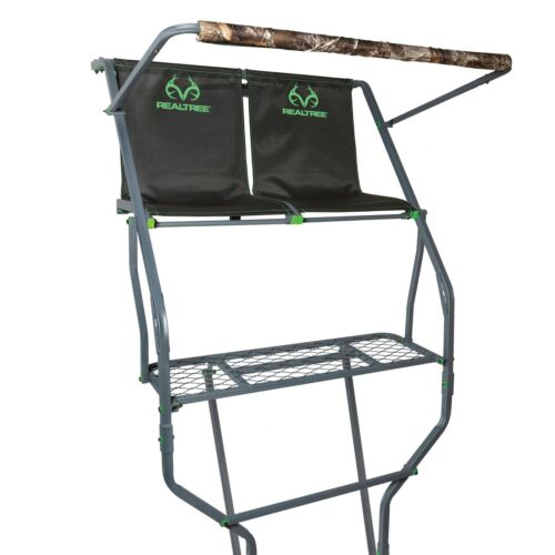 ( New)  Realtree Deluxe Two-man Ladder-  FREE SHIP