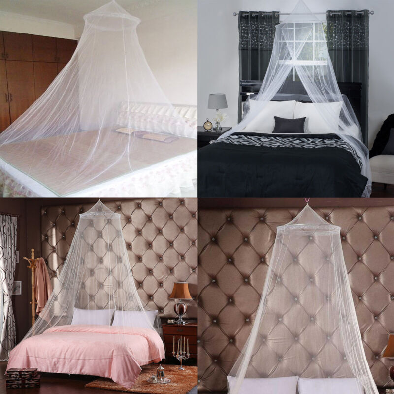 Mosquito Net Bed Queen Size Home Bedding Lace Canopy Princess Elegant Netting