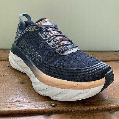 Hoka One One Bondi 6 Running Shoes Women's Size 8.5 Navy/Pink 1019270 MIDP