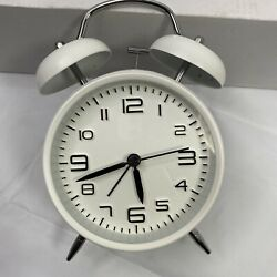 Betus Non-Ticking 4 Twin Bell Alarm Clock Backlit Loud for Heavy Sleepers New