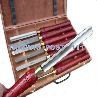 Neilsen Wood Turning Chisels 8 Piece Long Handles Lathe HSS Steel Blade   15T