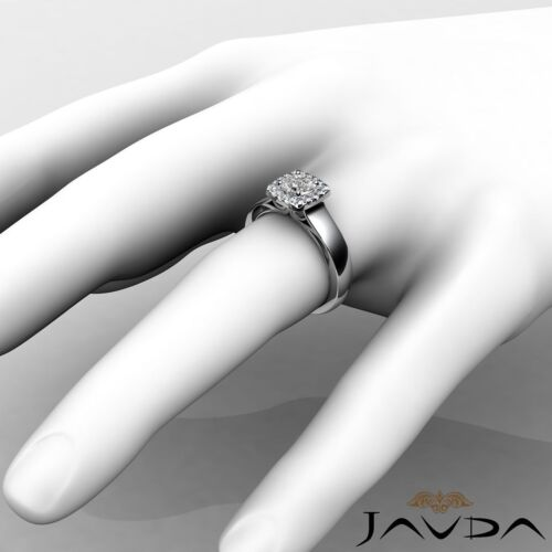 Filigree Shank Halo French Pave Round Diamond Engagement Ring GIA D VVS1 0.70Ct 2