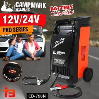 New Campmark 12V/24V Portable Battery Charger Single Phase