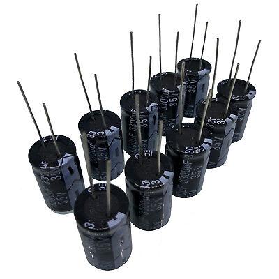 Us Stock 10pcs Electrolytic Capacitors 3300uf 35v 105 Radial 16 X 26mm