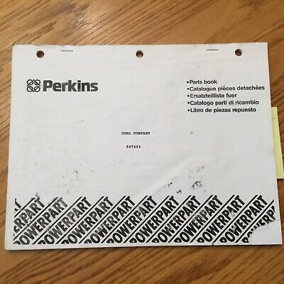 Gehl Perkins 4 Cyl Engine Parts Manual Book Catalog Gd30310 204.25-200 907053