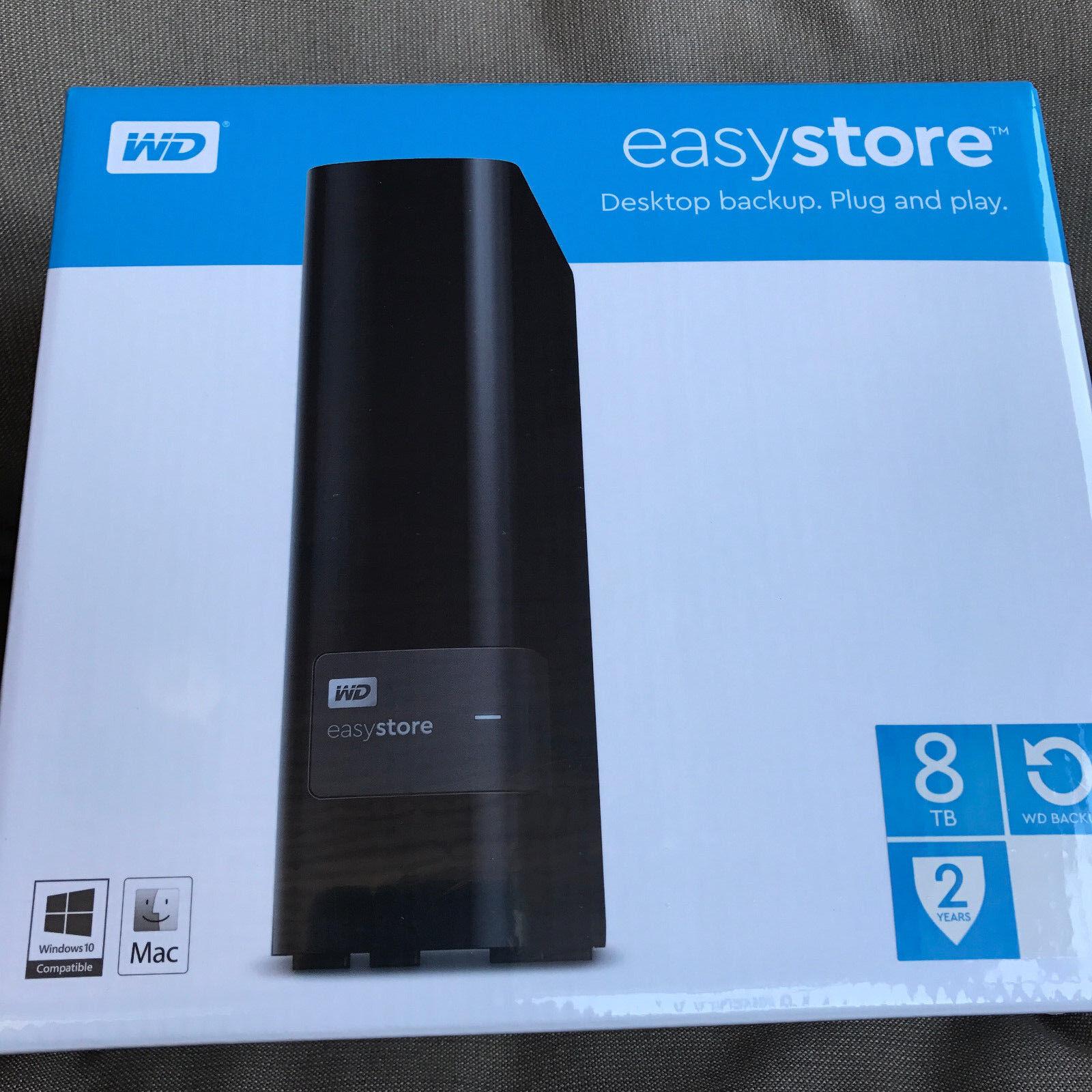 NEW WD Western Digital WDBCKA0080HBK-NESN Easystore 8TB