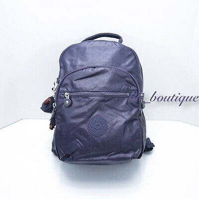 "NWT Kipling BP4367 Seoul Small 11"" Laptop Backpack Metallic Enchanted Purple"