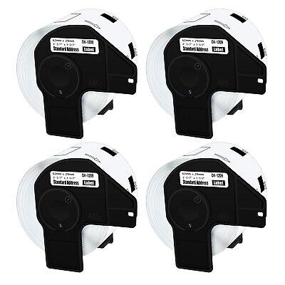 4rolls Dk1209 1209 Standard Address Tags Label For Brother Ql-800 Ql-1050 1-17