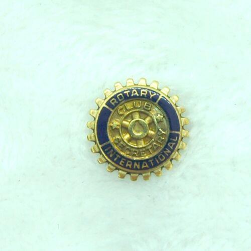 Vintage Gold Rotary International Club Secretary Lapel Pin 10k gf