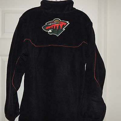 Minnesota Wild Youth Fleece (NHL Reebok Minnesota Wild 1/4 Zip Fleece Jacket New Youth M (10-12) MSRP)