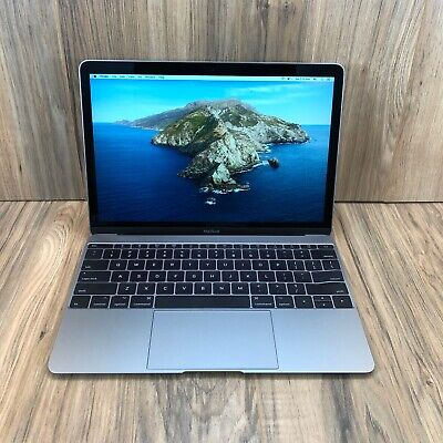 "Apple MacBook 2017 Space Gray 12"" Retina 256GB SSD 8GB RAM 1.2GHz Fully Tested"
