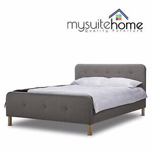MEL NEW Brayden Fabric Double/Queen Size Contemporary Bed Melbourne CBD Melbourne City Preview