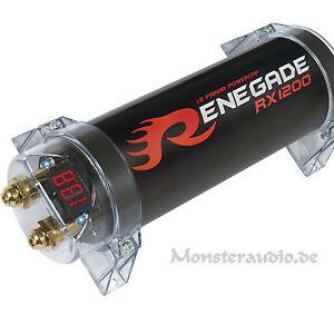 Renegade RX1200 1,2 Farad KFZ Powercap PKW Kondensator Auto Elko 1,2 F