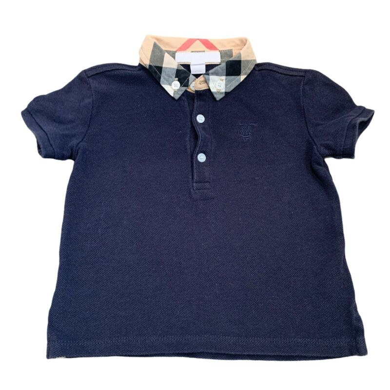 100 % AUTHENTIC Burberry baby Blue polo shirt size 12 months/80 cm