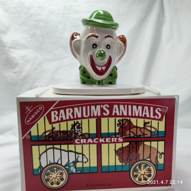 Nabisco Barnum's Animal Cracker Clown Cookie Jar Circus