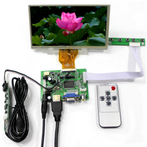 HD MI VGA 2AV Controller Board +6.5inch AT065TN14 800x480 LCD With Touch Screen